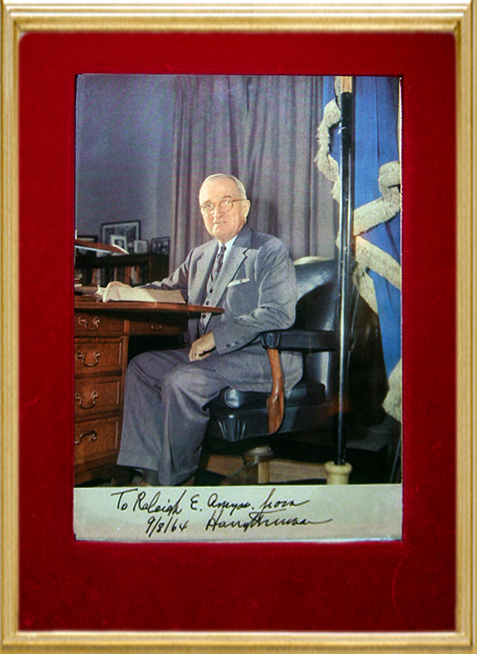 Harry S. Truman Inscribed Signed Photo