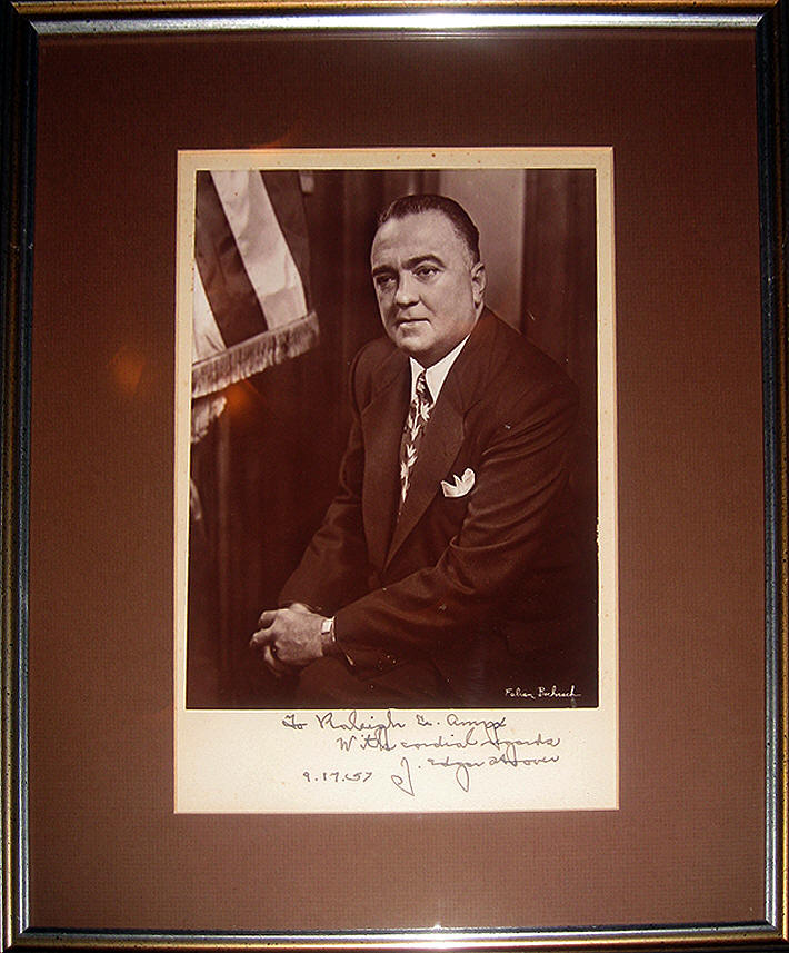 J. Edgar Hoover Signed Photo