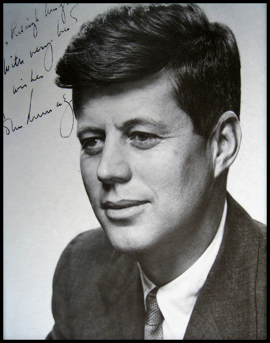 Senator John F. Kennedy Signed Photo