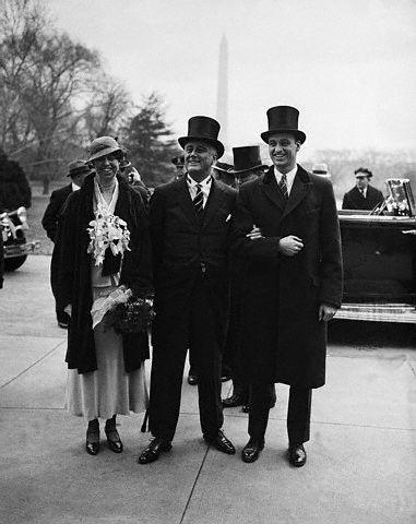 FDR and Hoover 1933 Inaugauration