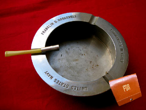 President Roosevelts Ash Tray & Cigarette Holder