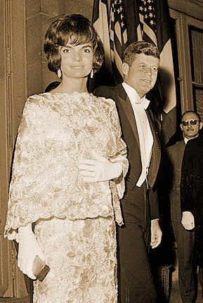 John F Kennedy And Jacqueline In Paris