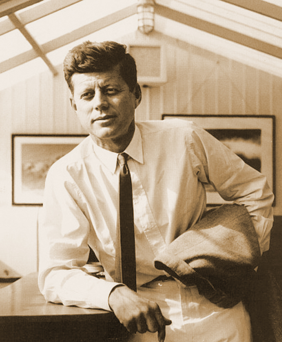 John F. Kennedy in rarely seen photo