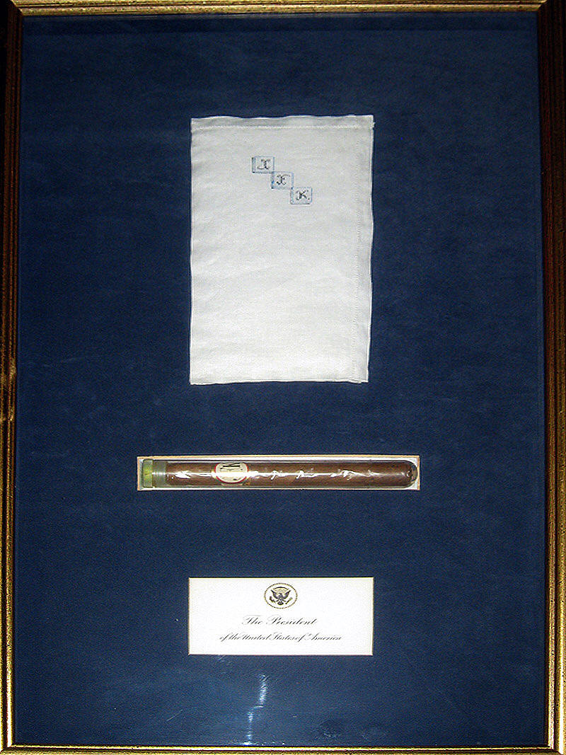 JFK's Cigar & pocket Hanky