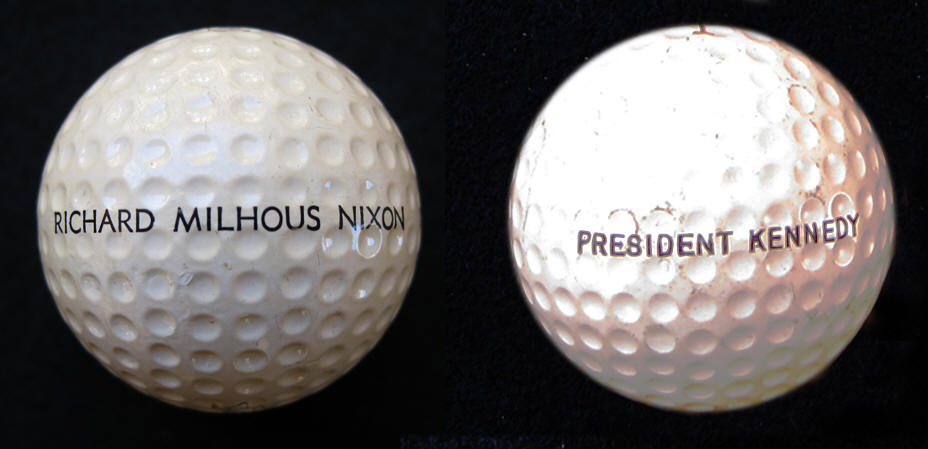 Golf Ball of Richard Nixon & John F. Kennedy