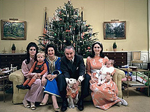 Christmas & Lyndon Johnson & Lady Bird