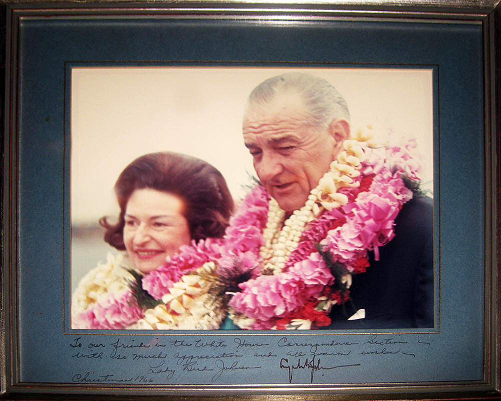 Christmas Gift from LBJ & Lady Bird Johnson