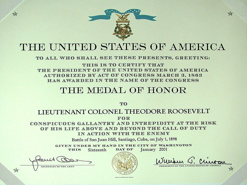 The Medal of Honor-Theodore Roosevelt