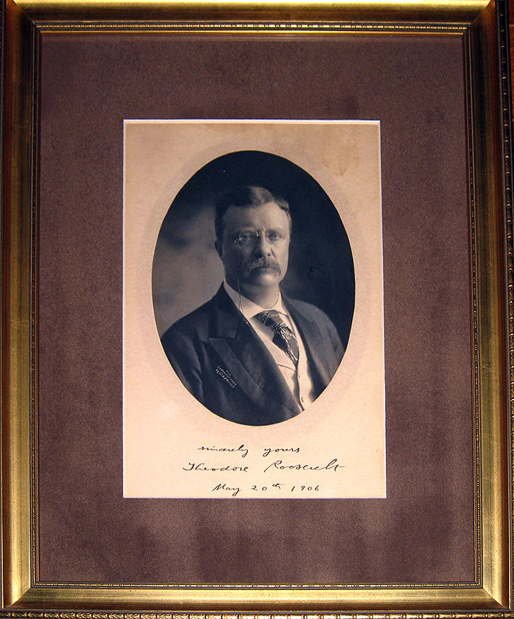 Signed Photo Theodore Roosevelt