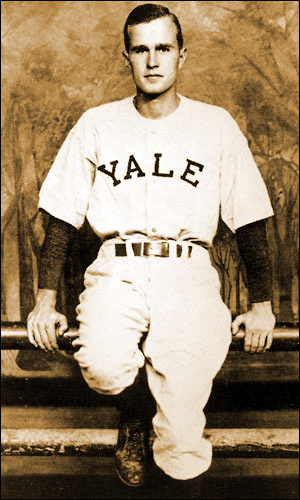 George Bush Captain of Yale Baseball