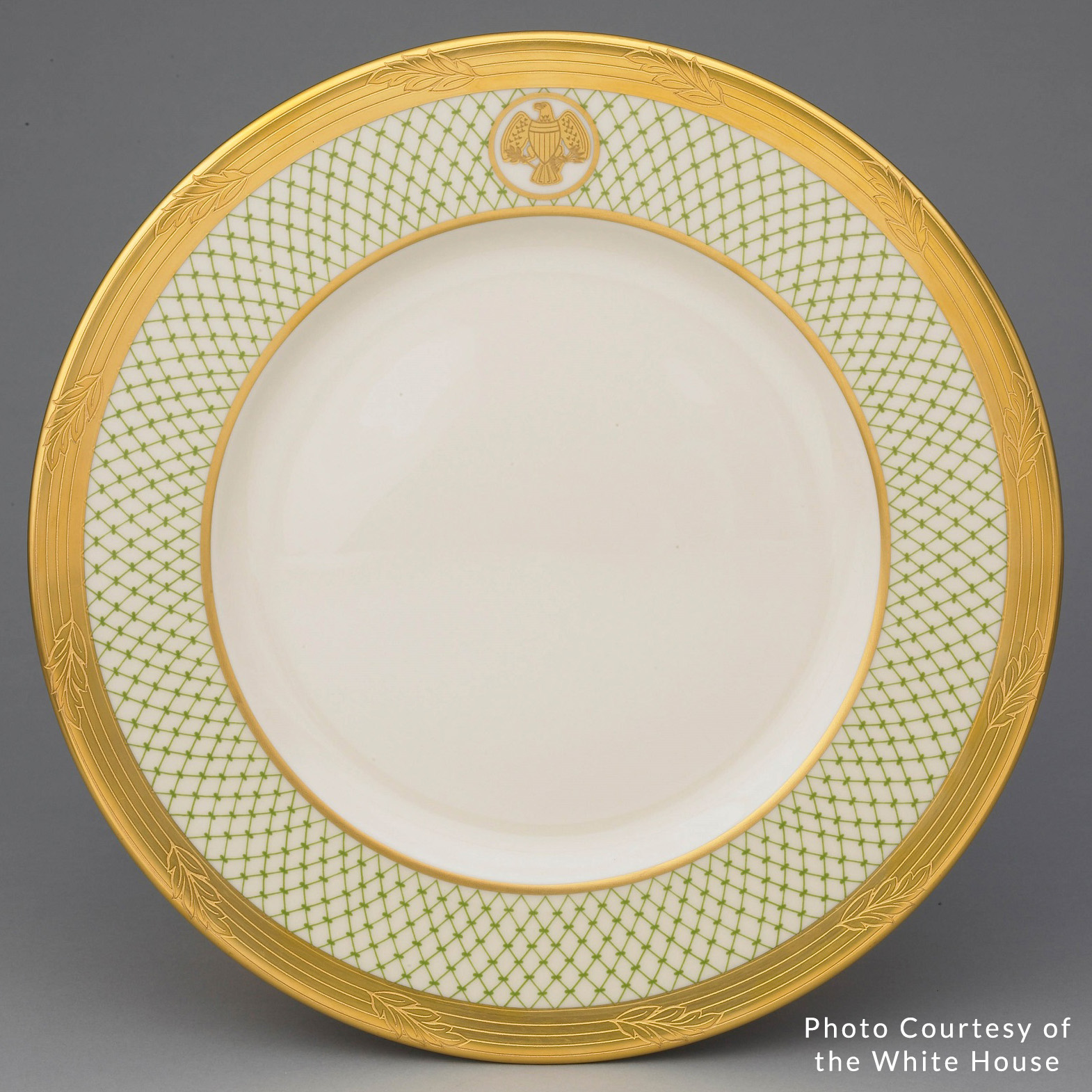 Dinner plate from George and Laura Bush's White House China collection