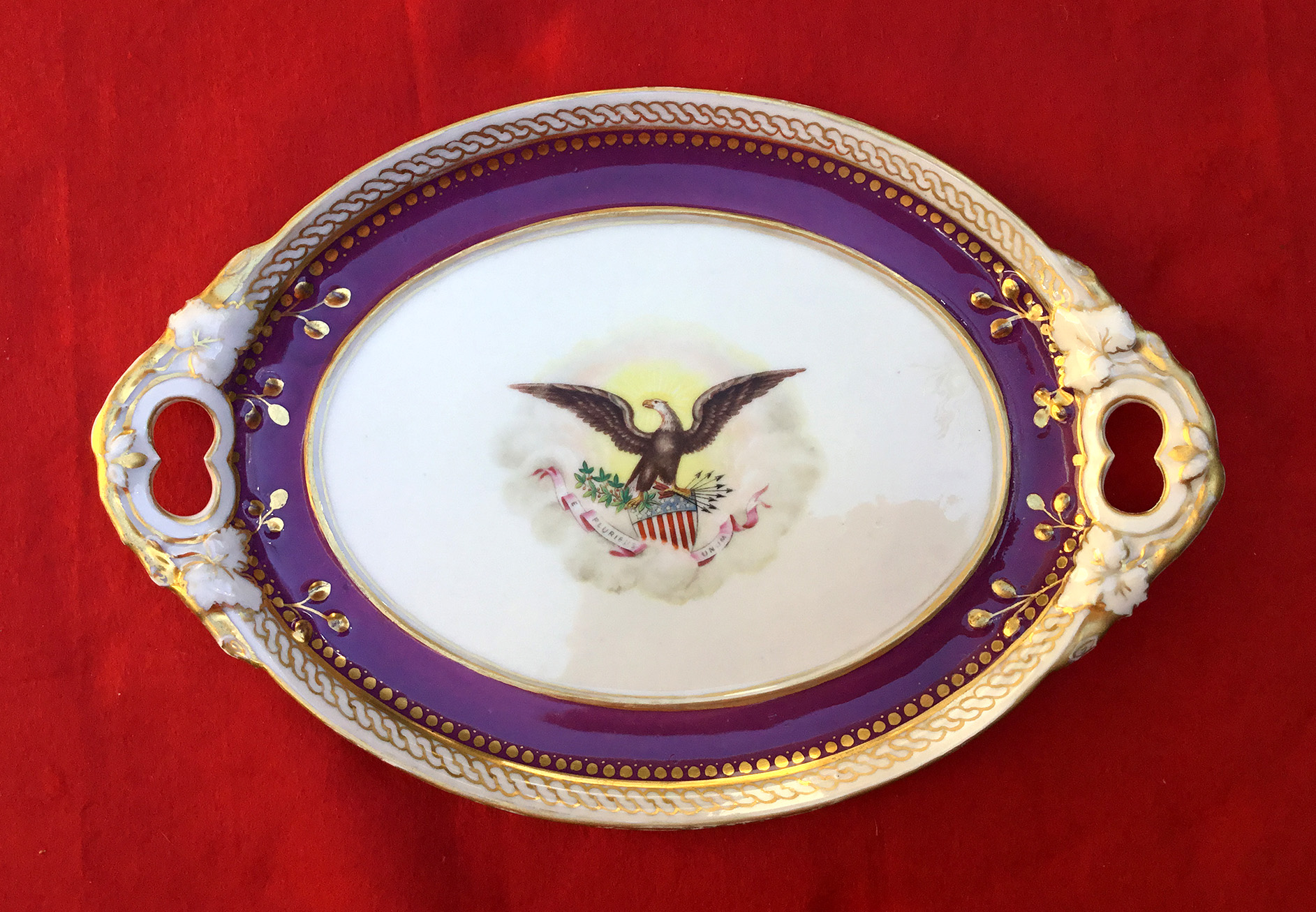 Covered Serving Piece of Lincol Buff China & Abraham Lincoln White House China