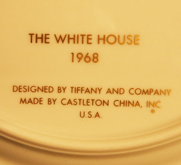 1968 White House China By Tiffany