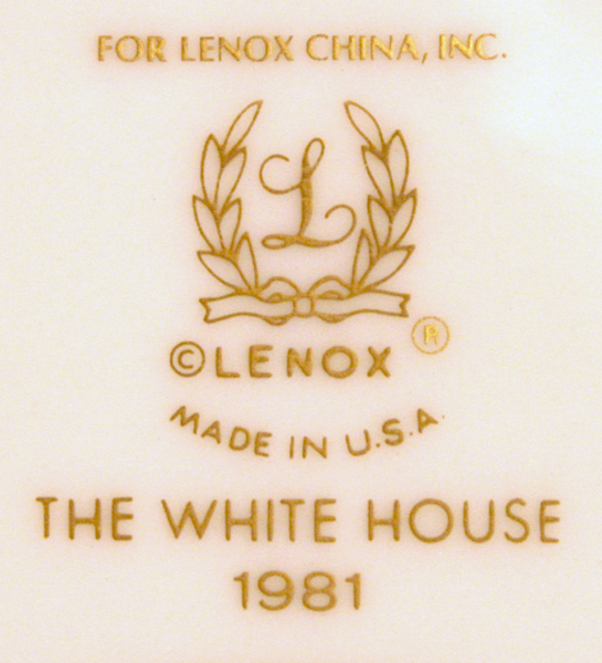 1981 White House China by Lenox