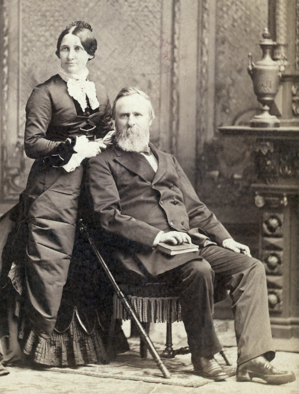 President Rutherfor B. Hayes with Lucy Webb Hayes