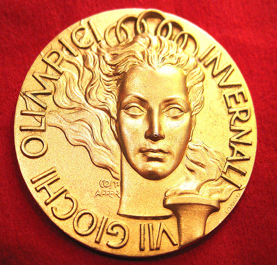 Gold Medal Cortina Dampezzo Italy   Olympic Gold Medal 1956
